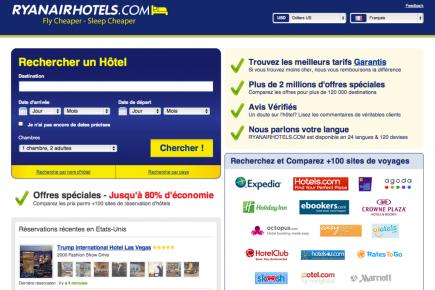 Ryanair lance un comparateur de tarifs h teliers voyage for Moteur de recherche reservation hotel
