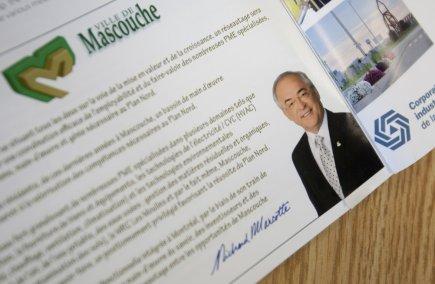 La publicité en couleurs d'une demi-page apparaît bien... (Photo David Boily, La Presse)