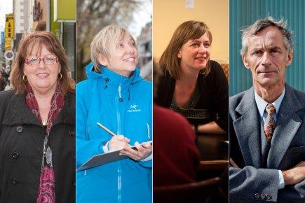 Denise Larouche, Hélène Dagenais, Érika Duchesne et Michel...