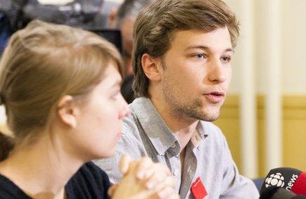 Jeanne Reynolds et Gabriel Nadeau-Dubois.... (Photo Ninon Pednault, La Presse)