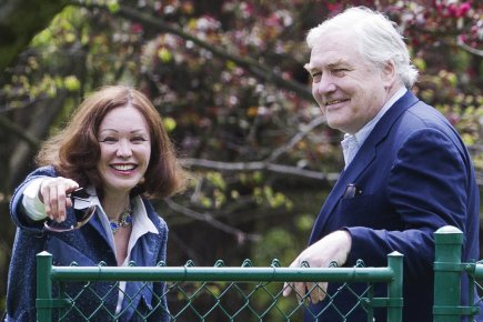 Conrad Black et sa femme Barbara Amiel à... (Photo : Mark Blinch, Reuters)