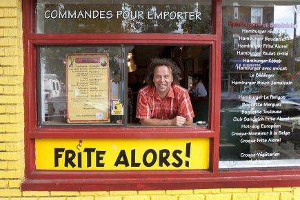 Jean Jurdant, fondateur deFriteAlors!, n'en revient pas de... (Photo Robert Skinner, La Presse)