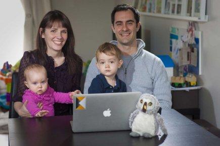 Bruno Morency et sa famille.... (Photo André Pichette, La Presse)