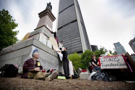 Du 12 au 15 mai, les indignés de... (Photo: Marco Campanozzi, La Presse)