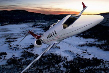 Un Learjet 70 de Bombardier.... (Photo fournie par Bombardier)
