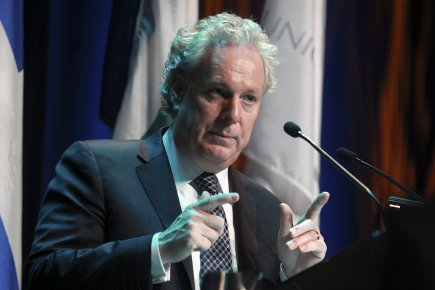 Jean Charest, photographié le 10 mai dernier.... (Photo: LeDroit)