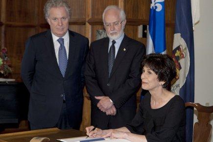 Mihelle Courchesne a été assermentée en tant que... (Photo: PC)