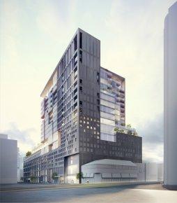 Esquisse du projet Ogilvy selon les plans actuels.... (Illustration fournie par l'arrondissement Ville-Marie)
