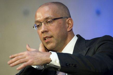 Jörg Asmussen, l'un des membres du directoire de... (Photo: AFP)