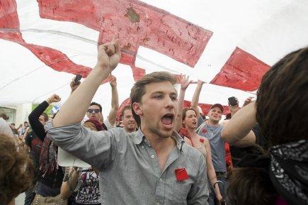 Gabriel Nadeau-Dubois, porte-parole de la CLASSE.... (PHOTO : GRAHAM HUGHES, LA PRESSE CANADIENNE)