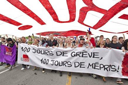 Le Québec du printemps 2012 est en train... (PHOTO: PATRICK SANFAÇON, LA PRESSE)