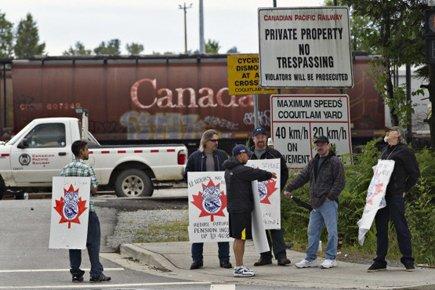 De nombreux employés de CP sont en ... (Photo: Reuters)