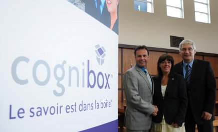 Le maire de Shawinigan, Michel Angers; la présidente-directrice... (Photo: Sylvain Mayer)