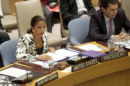 L'ambassadrice américaine aux Nations unies, Susan Rice, a... (Photo: Allison Joyce, Reuters)