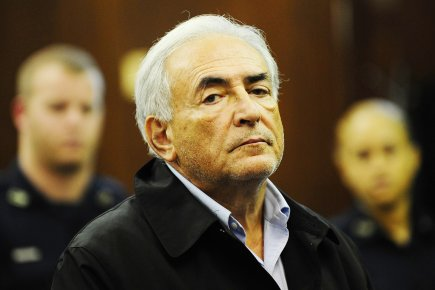Dominique Strauss-Kahn, lors de sa comparution à la... (Photo: Emmanuel Dunand, Archives AFP)