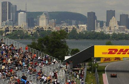 Le circuit Gilles-Villeneuve et le centre-ville de Montréal... (Photo: Bernard Brault, La Presse)