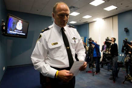 Warren Lemcke de la police de Vancouver a... (Photo: La Presse Canadienne)