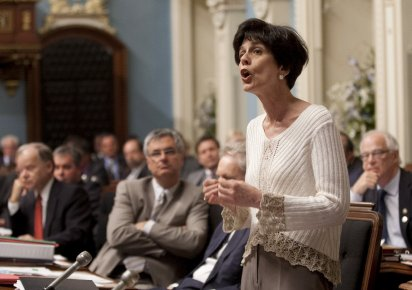 À l'Assemblée nationale mardi, Michelle Courchesne n'a pu... (Photo La Presse Canadienne)