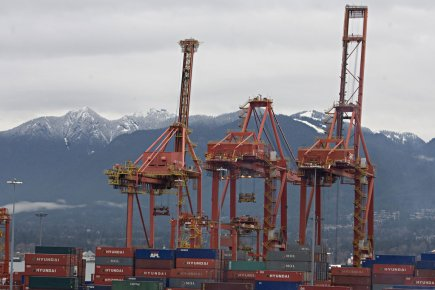 Port de Vancouver... (Photo François Roy, archives La Presse)