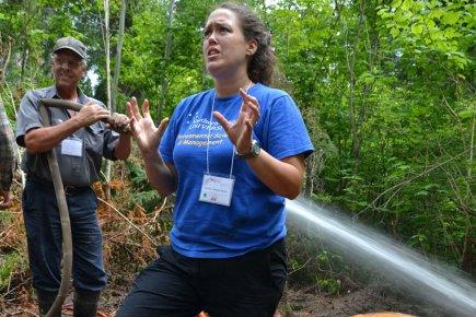 Annie DesRochers, à un endroit où les racines... (Photo fournie par l'Université du Québec en Abitibi-Témisamingue)