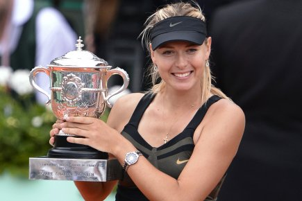 Maria Sharapova a remporté le tournoi de Roland-Garros... (Photo: AFP)