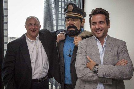 Stephen Greenberg et Jean Bureau.... (Photo Olivier Pontbriand, La Presse)