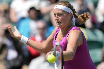 Petra Kvitova s'est inclinée 7-5, 6-4 face à... (Photo: AFP)