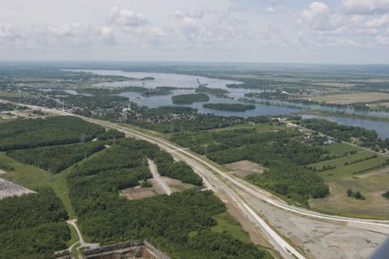 Les infrastructures de la phase 1 de ce... (Photo fournie par la ville de Valleyfield)