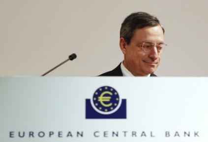 Le patron de la BCE, Mario Draghi...