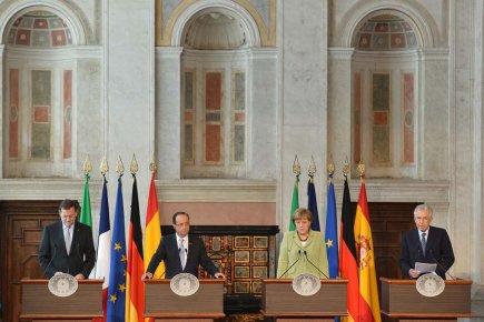 Le chef du  gouvernement espagnol Mariano Rajoyle,... (Photo: Alberto Pizzoli, AFP)