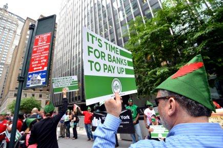 Lareprisen'empêche pas la tenue de manifestations sur Wall... (Photo AFP)