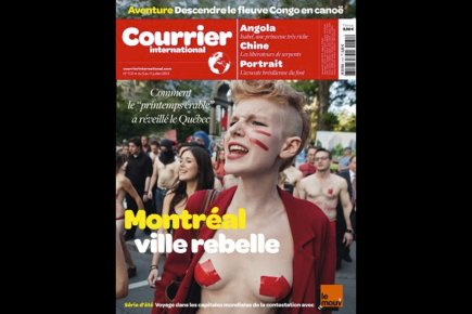 «Montréal ville rebelle: comment le printemps érable a réveillé le Québec.»... (Photo Le Courrier international)