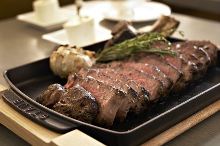 Du boeuf de Kobé, servi au Japon.... (Photo: archives Bloomberg News)