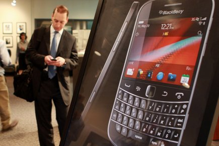 Le nouveau logiciel de RIM, BlackBerry 10, sera... (Photo Dave Chidley, La Presse Canadienne)