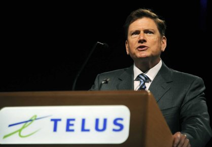 Le grand patron de Telus, Darren Entwistle.... (Photo Reuters)