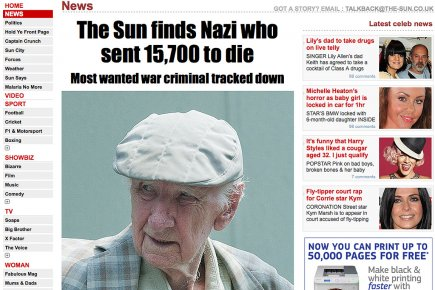 Le criminel nazi le plus recherché au monde... (Photo: tirée du site www.thesun.co.uk)