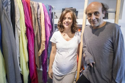 Faye Mamarbachi et Frédéric Mamarbachi.... (Photo Olivier Pontbriand, La Presse)