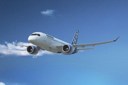 Un modèle de type CSeries.... (Photo fournie par Bombardier)