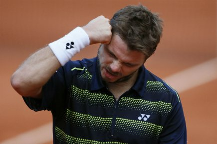 Stanislas Wawrinka... (Photo Patrick Kovarik, Agence France-Presse)