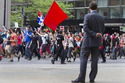 Une des nombreuses manifestations du printemps à Montréal.... (Photo Robert Skinner, archives La Presse)