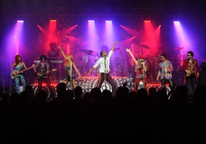 Le Boogie Wonder Band était en spectacle dans... (Photo: Sylvain Mayer)