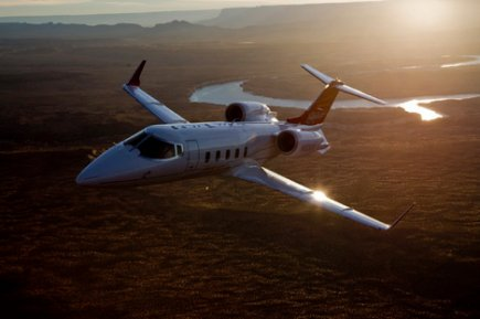 Un Learjet 60 XR...
