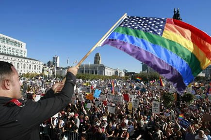 Le mariage gai avait été brièvement autorisé en... (Archives AP)