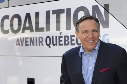 Le chef de la CAQ, François Legault.... (Photo: Jacques Boissinot, PC)
