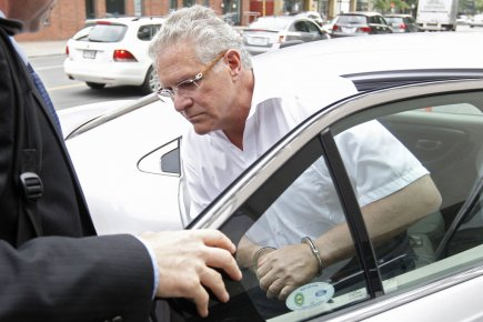 Tony Accurso lors de son arrestation ce matin.... (Photo Ivanoh Demers, La Presse)