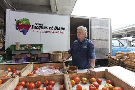Jacques Rémillard, maraîcher du marché Jean-Talon. ... (Photo: Édouard Plante-Fréchette, La Presse)