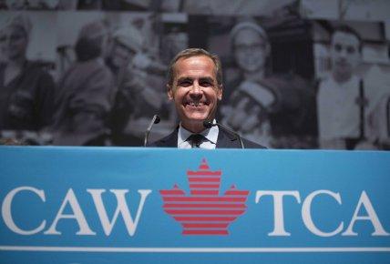 Mark Carney s'exprimait à Toronto dans le cadre... (Photo La Presse Canadienne)