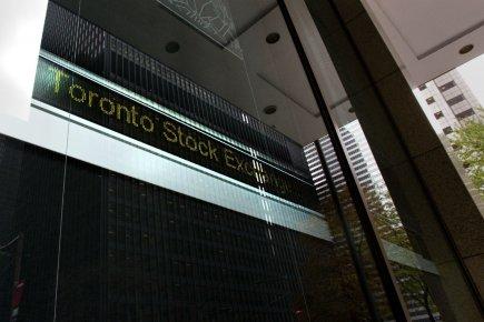La Bourse de Toronto a clôturé lundi en baisse, les investisseurs semblant... (Photo Frank Gunn, La Presse Canadienne)