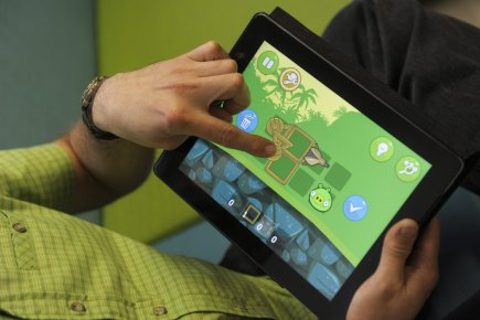 Dans Bad Piggies, la suite attendue d'Angry Birds... (Photo AP)