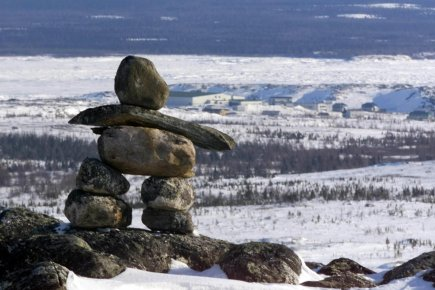 Un Inukshuk près de Kuujjuaq.... (Photo archives PC)
